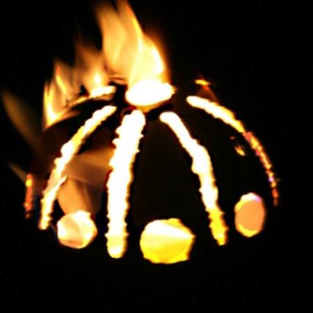 Gartenfackel Edelstahl Sonne Feuerkugel