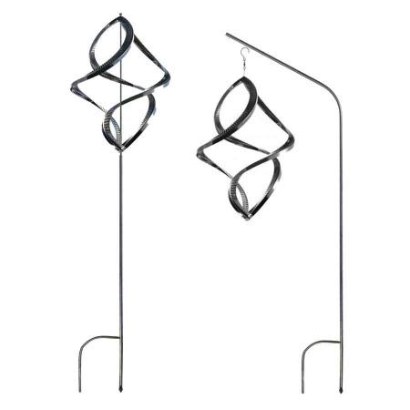3D Edelstahl Windspiel Monos hochglanz