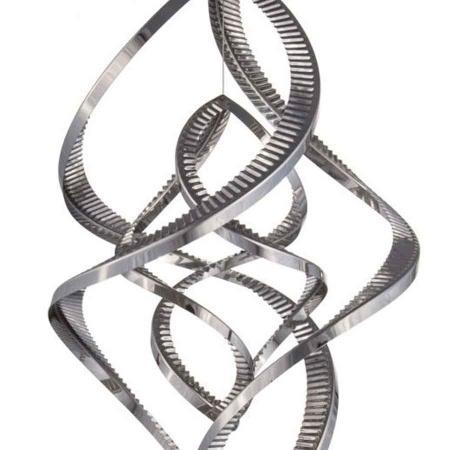 3D Edelstahl Windspiel Monos hochglanz 2 Elemente
