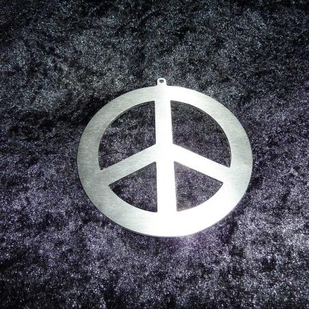 Edelstahl Peace Zeichen Anhänger Friedenssymbol