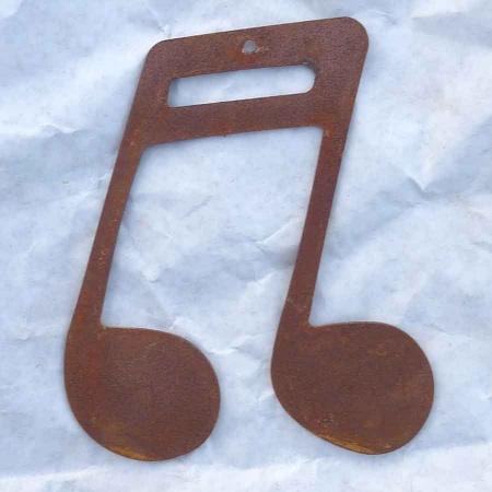 Edelrost Doppel Note Balken Metall