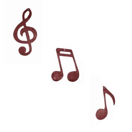 Notenschlüssel Metall Musik Rostpatina