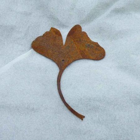 Ginkgo Blatt Deko Metall 15,5 cm