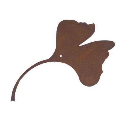 Ginkgoblatt Metall Edelrost 20,5 cm