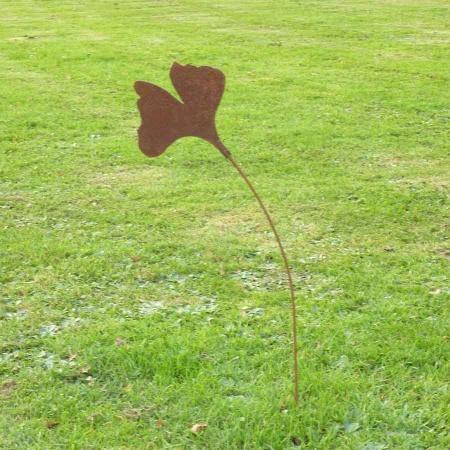 Ginkgo Metall Gartendeko Rost 58 cm
