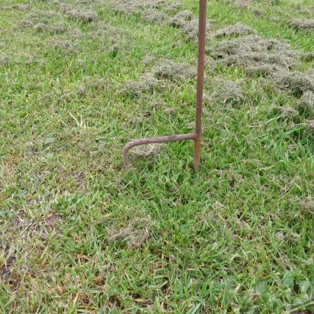 Gartenstecker Ginkgoblatt Metall 120 cm