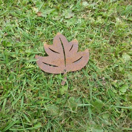 Ahornblatt Deko Herbstlaub Rost 10,5 cm