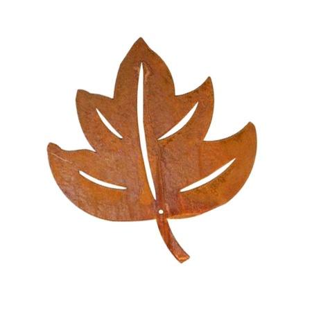 Laubdeko Ahornblatt rostig gross 21,5 cm