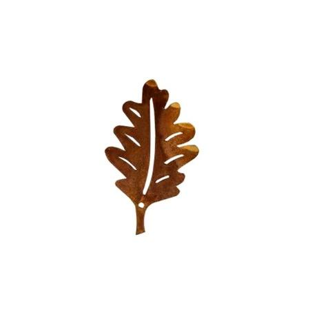 Eichenblatt Deko Metall 10,5 cm