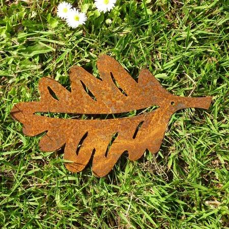 Rostiges Eichenblatt Herbstdeko 21,5 cm gross