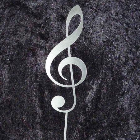 Notenschlüssel Edelstahl Musik Violinschlüssel