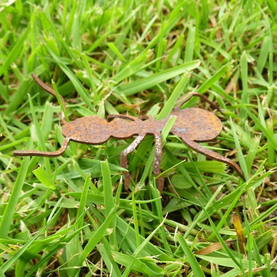 Deko ameise metall insekt klein art for Deko metall