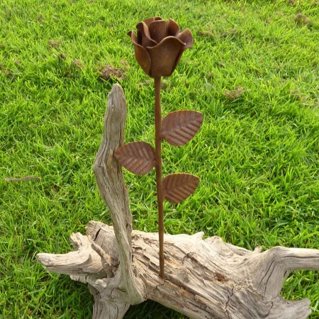 Rose Metall Blume Edelrost