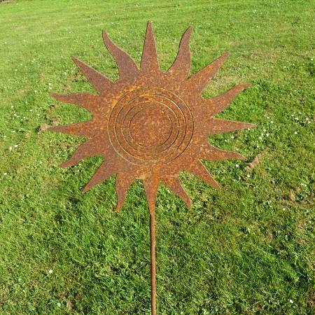 Metall Sonne 3D Gartendeko