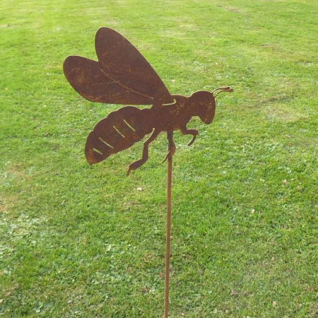 Metall Biene Gartendeko Gartenstecker Rost