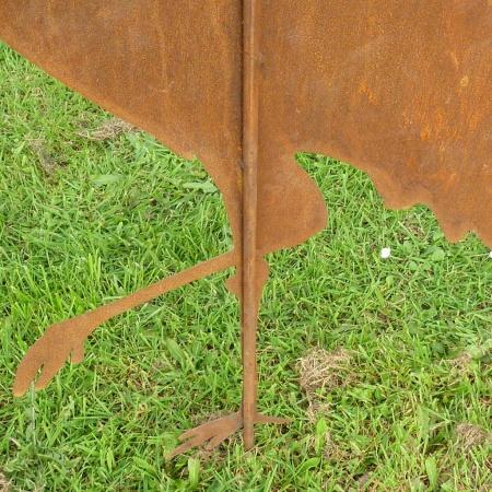 Metall Figur Storch Edelrost Gartendeko