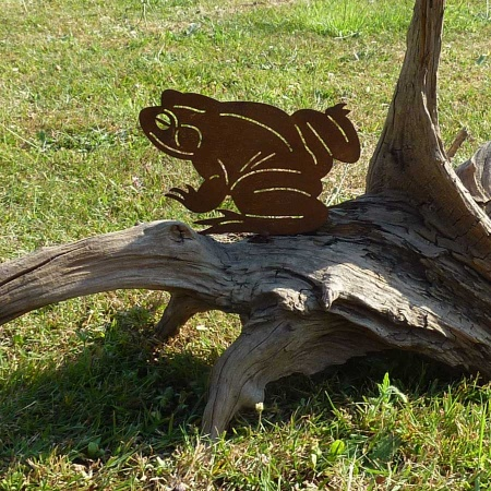 Frosch Metall Deko Garten Figur