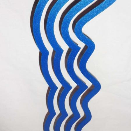 Kunst Metallobjekt Windharfe blau