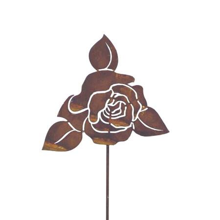 Rosenblüte Metall Gartenstecker Dekoblume