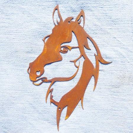 Pferdekopf Metall Wanddeko Pferd Edelrost
