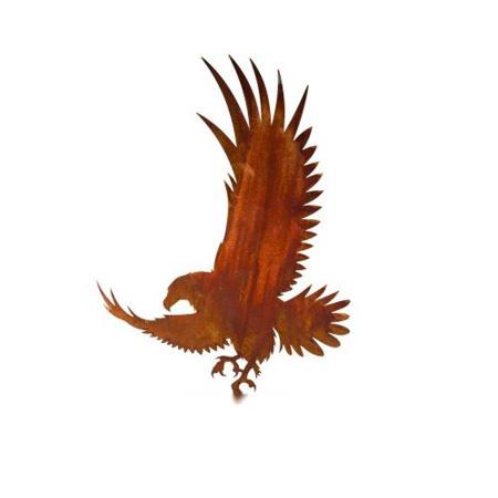 Adler Metall rostiger Greifvogel Gartendeko