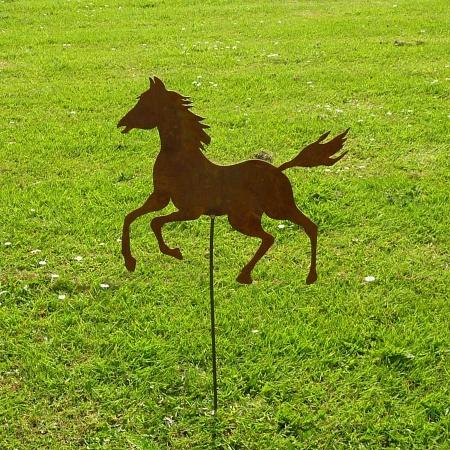 Großes Pferd Metall Garten mit Bodenstecker