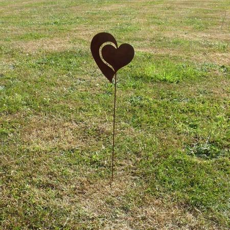 Deko Herz aus Metall mit Edelrostpatina