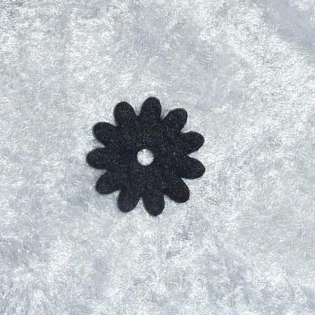 Ringaufsatz Filz schwarz Zwischenstück Ringtop