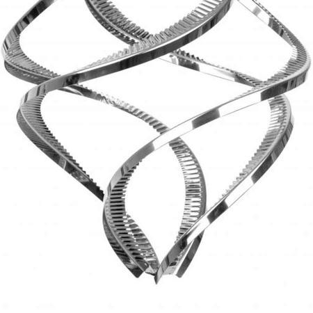 Windspiel Edelstahl in 3d Optik