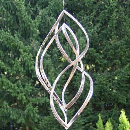 Windspiel Edelstahl gross 60 cm 2 Elemente