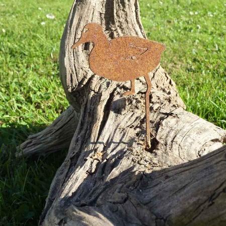 Kleine Ente Stahl rostig als Blumendeko