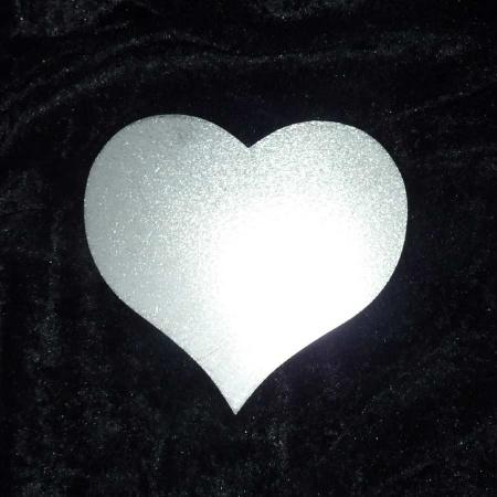 Edelstahl Herz per Hand geschliffen beiseitig nutzbar
