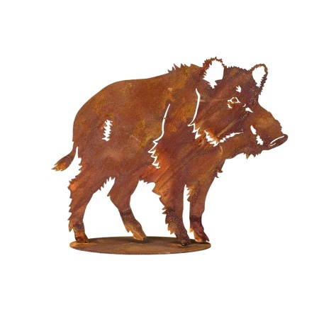 Deko Wildschwein Figur Metall gross