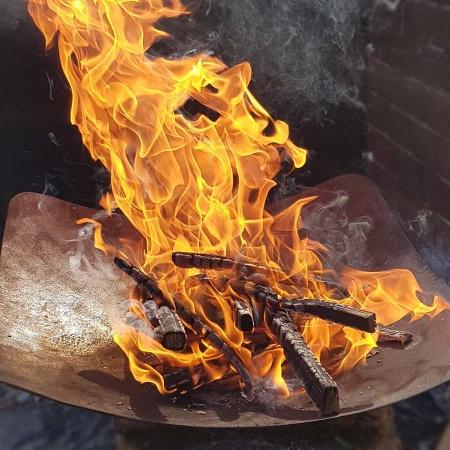 Feuerschale & Pflanzschale Garten Edelrost Schale feuerfest