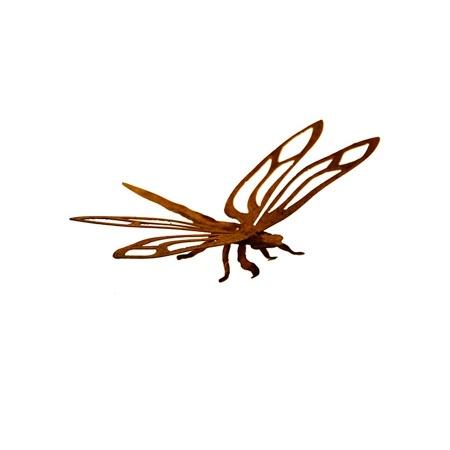 Libelle 3d Metall Figur Rost Gartendeko