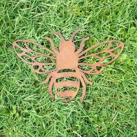 Biene aus Metall Edelrost Gartendeko