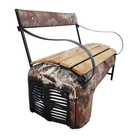 Traktor Sitzbank Shabby Chic Metall Holz Trecker Bank
