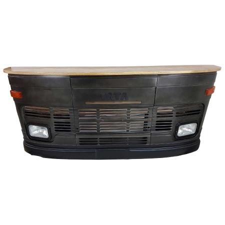 LKW Bar Tresen Tata Front Design Theke schwarz 245 cm