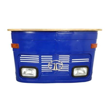 Tresen Rezeption Empfang LKW Front Vintage blau 160 cm