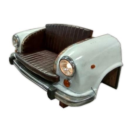 Auto Sofa 2 Sitzer Autofront Echtleder Sitzbank 170 cm