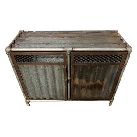 Industrial Sideboard Vintage Gerüstrohre und Wellblech 103cm