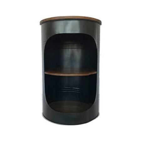 Bistrotisch Ölfass Look recyceltes Holz Weintisch Weinfass Style