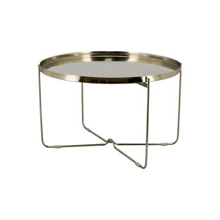 Beistelltisch rund silber Metall Couchtisch 71x71cm