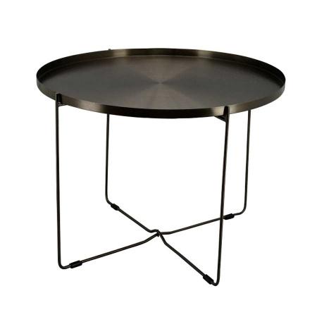 Couchtisch rund anthrazit Metall Couchtisch 78,5 x 78,5cm