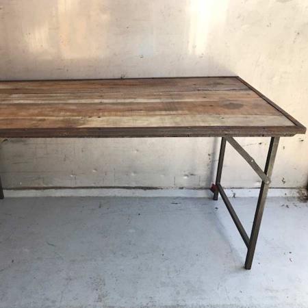 Vintage Klapptisch Holz Metallgestell Industrie Style 160 cm