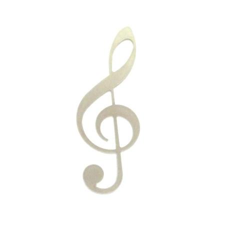 Notenschlüssel Edelstahl Deko Musikdeko