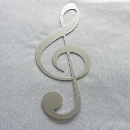 Edelstahl Notenschlüssel Musikdekoration