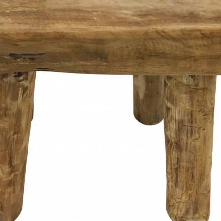 Teakholz Beistelltisch massiv Teak Möbel Couchtisch 50cm