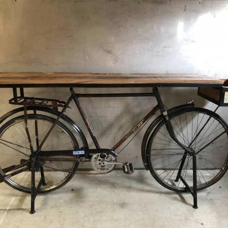 Tisch Fahrrad Möbel Retro Konsole Fahrradtisch 190cm