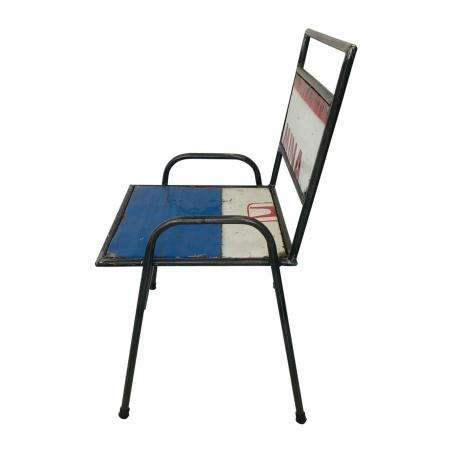 Stuhl industrial Ölfass Retro Stühle bunt Metall